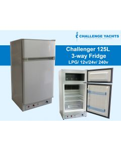 Challenger 125L  3-way Gas Fridge