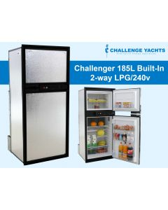 Challenger 185L 2-way Gas Fridge - Built-In