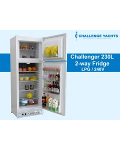 Challenger 230L 2-way Gas Fridge