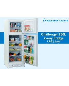 Challenger 280L 2-way Gas Fridge