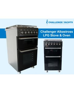 Challenger Albatross Gas Oven, Stove and Grill - Black
