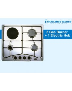 Challenger Gas 3 Burner + 1 Electric 240v Hob