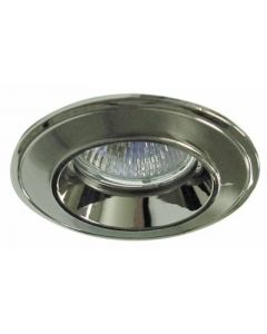 small image product RECESSED SPOTLIGHT FIXED SMALL: BRUSHED CHROME WITH STAINLESS STEEL TRIM
