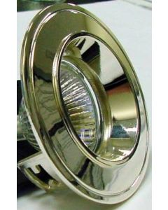 small image product RECESSED SPOTLIGHT FIXED SMALL:SHINEY CHROME WITH SHINEY CHROME TRIM