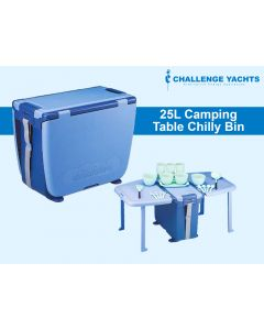 Camping Chilly Bin/Table Combo - 25L