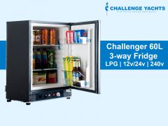 Challenger 60L 3-way Gas Fridge