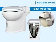 Toilet with Macerator Pump
